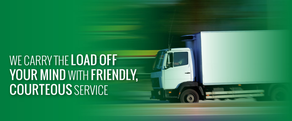 We Carry the Load off Your Mind with Friendly, Courteous Service | moving truck